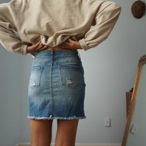 Mossimo Supply Co. Skirts - Distressed Fitted Denim Mini Skirt